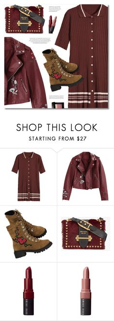 """Fancy"" by defivirda ❤ liked on Polyvore featuring Prada, Bobbi Brown Cosmetics, NYFW, cute, fancy, adore and falldresses"