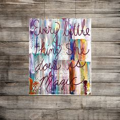 Heavy textured hand made quote paintings on canvas by the artist Katey Turturro   This is the Original as shown, (Ready to ship !)    ✿Artwork