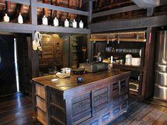 台所、キッチン、古民家