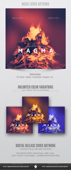 Magma - Music Album Cover Artwork Template