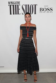 Giovanna Battaglia attends the W Magazine and Hugo Boss Celebrate 'The Shot' event at the International Center of Photography Museum on September 12...