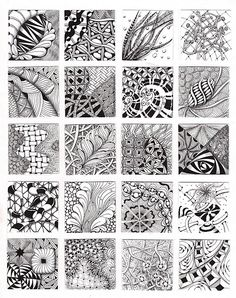 Zentangle texture ideas.