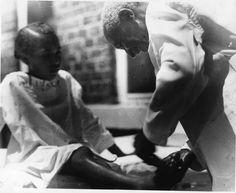 George Washington Carver tying a child's shoe George Washington Carver, African American History, Black History, Shoe, Children, Young Children, Zapatos, Boys, Shoemaking