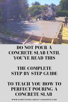 If you want to learn how to pour your own concrete slab I've written my helpful guide just for you. I've also made a video guide to teach you step by step. Diy Concrete Slab, Pouring Concrete Slab, How To Lay Concrete, Poured Concrete Patio, Concrete Footings, Concrete Steps, Concrete Projects, Concrete Floors, Concrete Countertops