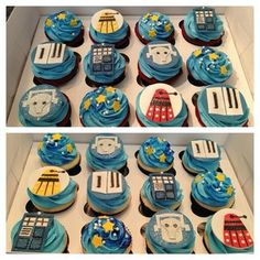 22 Geeky Desserts That'll Give You Food Goals Doctor Who Birthday, Doctor Who Party, Doctor Who Wedding, Doctor Who Cupcakes, Yummy Treats, Sweet Treats, Homemade Fondant, Birthday Party Desserts, Birthday Ideas