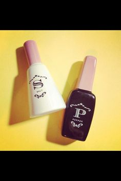 Fashionably inovative and cute nailpolish bottles!! Great gift for a fashionista i'd say! #salt #pepper #nailpolish