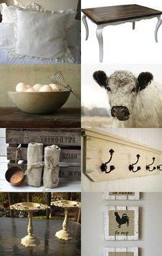 French Country.. Just not sure how to decorate with the cow  Bossy, what are you doing in the kitchen? How many times have I told you...