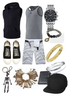 """""""Casual Derrik"""" by imortalsnail on Polyvore featuring adidas, DRKSHDW, HUGO, Tiffany & Co., Alexander McQueen, UB by N.A.R., men's fashion and menswear"""