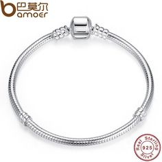 Free Shipping S925 Sterling Silver Snake Bracelet Fitting European Charm Jewelry