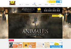 "CINESA · Branded Theming of the desktop Home Page and its elements for the movie ""Fantastic Beasts..."" · February, 2017 · www.cinesa.es"