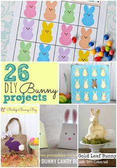 Great Ideas -- 26 DIY Easter Bunny Ideas!