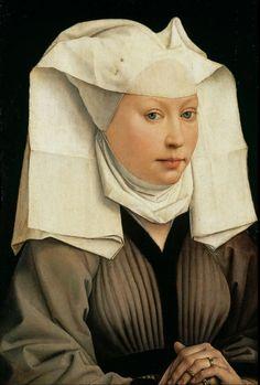 Rogier van der Weyden - Portrait of a Woman with a Winged Bonnet [c.1440]