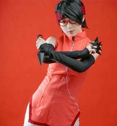 Sarada Uchiha Cosplay - Princess of the Fist 😍 Sarada Cosplay, Sarada Uchiha, Manga Anime, Princess, Beautiful, Strength, Drawings, Princesses, Electric Power