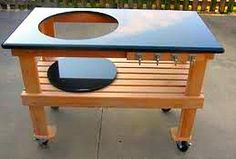 Kettle Grill Work Table Plans | Big Green Egg Table Makes Outdoor Cooking A Breeze