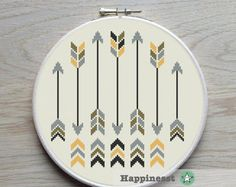 cross stitch pattern arrows arrows aztec PDF pattern by Happinesst