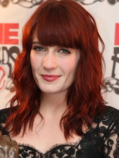 Cherry Bomb Redhead Florence Welch- I like her red a lot! @Anthony Daniels