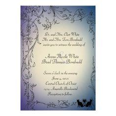 猫好きの結婚式招待状 12.7 X 17.8 インビテーションカード