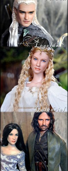 The Lord of the rings...the BEST looking look-alike dolls I have ever seen!