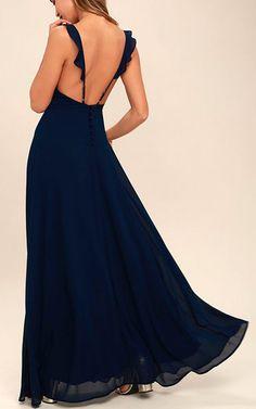 Meteoric Rise Navy Blue Maxi Dress via @bestmaxidress
