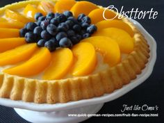 Super easy German fruit flan ... from scratch to table within one hour ... so good. Check out http://www.quick-german-recipes.com/fruit-flan-recipe.html