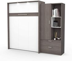 Amazon.com: Bestar: Murphy Beds Full Murphy Bed, Murphy Bed Office, Queen Murphy Bed, Murphy Beds, Bed Storage, Tall Cabinet Storage, Molding Ceiling, Full Mattress, Bed Springs