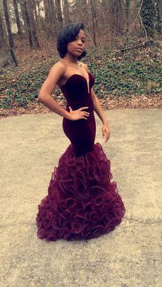 Vestido De Festa Longo Mermaid Burgundy Prom Dresses 2016 Sweetheart Fashion Ruffled Organza Robe De Soiree Abendkleider Sexy