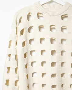 Maison Margiela Line 1 | Punch-Out Knit Sweater | La Garçonne