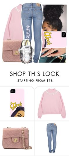 """oh that's what he left? let his momma pick it up"" by lamamig ❤ liked on Polyvore featuring Chanel, Nudie Jeans Co., Converse, women's clothing, women, female, woman, misses and juniors"