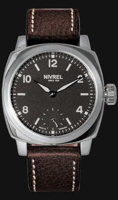 NIVREL Replique Manuelle III, Ref. N 326.001 AASDS (normal version) and N 326.001 AGSDS (swans nesck version), ETA Unitas 6498-1.