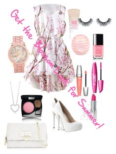 """""""Bloomin Blossoms"""" by ilovesmacaroons ❤ liked on Polyvore"""