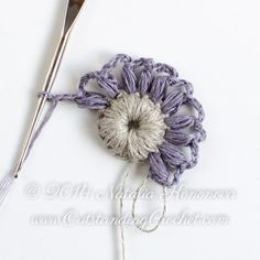 Irish Crochet Puff Stitch Flower Motif by OutstandingCrochet