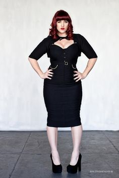 Plus Size Cocktail Dress  and those heels... are just killing it!