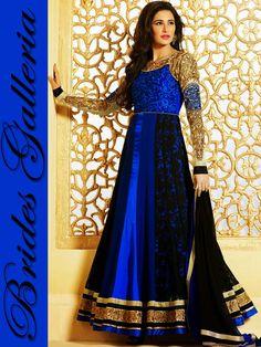 Nargis Fakhri BlueAnarkali Suit [BGSU 16336] - US $113.30