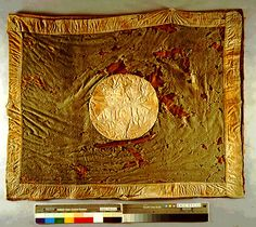 Texas regimental flag carried through the bloody carnage at the Battle of Franklin and up to the final surrender of the Civil War.  The Star of Texas is barely visible in center.  Several Texans died carrying this flag.  It is said the blood of some of them can still be seen on the cloth. Rather than surrendering the flag, Mark Kelton of the 6th Texas took it from its staff and carried it back to Texas. He donated the flag to the State Archives in 1885, where it has been stored ever since.