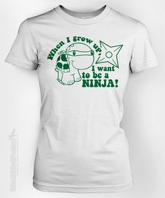 Turtle Becomes a Ninja - funny nature animal star kawaii small love shell creature awesome cool cute humor tshirt t-shirt tee shirt