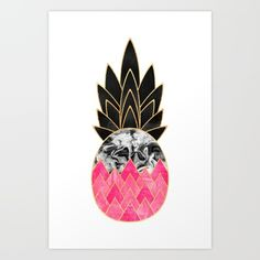 Precious+Pineapple+2+Art+Print+by+Elisabeth+Fredriksson+-+$18.00