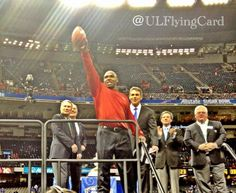 Louisville Head Coach Charlie Strong dedicates the game ball to Card Nation and all the fans.