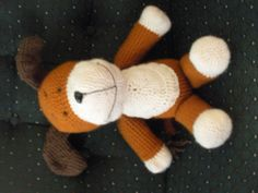 Kipper the Dog crochet. Wish it had a pattern. I would attempt crocheting again for this!