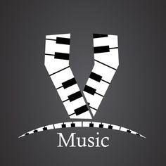 Letter V, Music Class, Musicals, Notes, Monograms, Black White, Lyrics, Letters, Musik