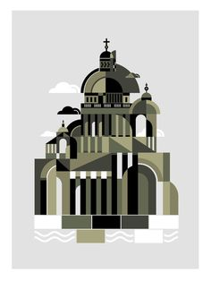 Cathedral by koivo, via Behance