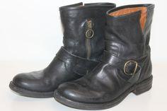 FIORENTINI BAKER womens black leather Eli ankle motorcycle boot sz 7.5 #fiorentinibaker #FashionAnkle