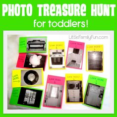 A perfect Treasure Hunt for young toddlers & preschoolers who cannot read yet. :)