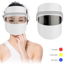 3 Colors Spectrum Technology LED Light Photon Face Mask Massage Hot Pack