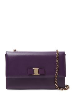 Salvatore Ferragamo Ginny Medium Leather Vara Flap Crossbody