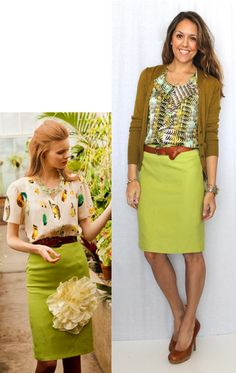 Today's Everyday Fashion: Pretty Prints — J's Everyday Fashion - (with lime pants)