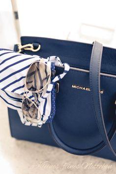Michael Kors Handbags Outlet, Cheap Michael Kors, Michael Kors Bag, Mk Handbags, Designer Handbags, Handbag Stores, Nautical Fashion, Nautical Style, Nautical Stripes