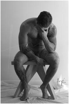 Desnudo luchadores masculinos de aceite