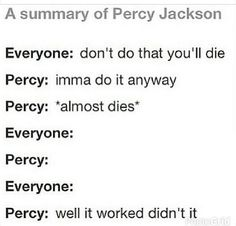 Oh gods! Every time :) - Percy Jackson Percy Jackson Memes, Percy Jackson Books, Percy Jackson Fandom, Team Leo, Rick Riordan Books, Uncle Rick, Book Memes, Percabeth, Heroes Of Olympus