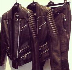 Balmain biker jackets.