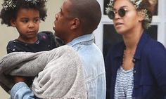 Beyonce and Blue Ivy wear flowers in their hair on outing with Jay Z